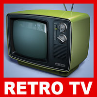 retro tv set 3ds