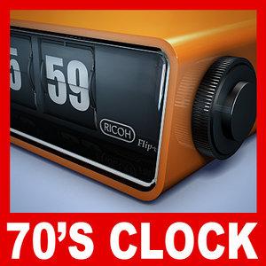 max retro flip clock 60 s