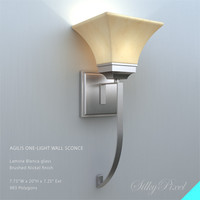 contemporary wall sconce 3d model