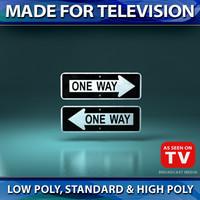 3d model way signs 1