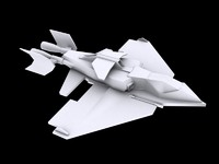 3dsmax space fighter