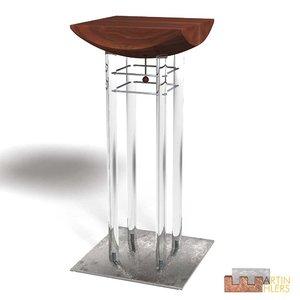 3d high-desk standing-desk model