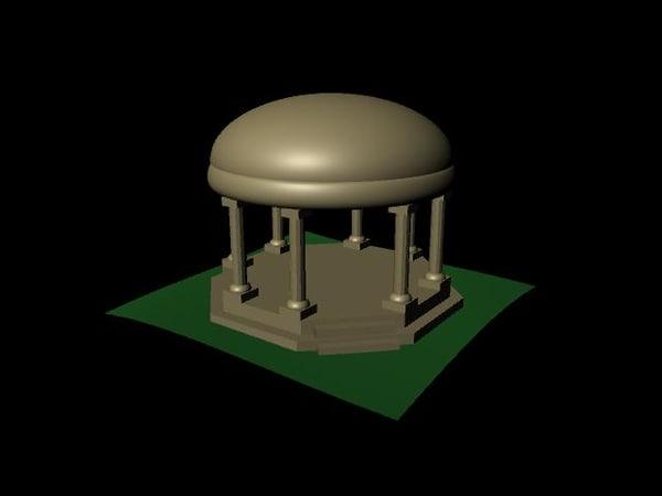 free ma model temple building