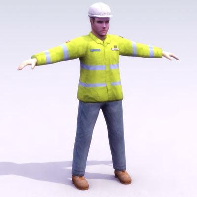 3d workman work