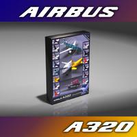 3d a320 14 aircraft model