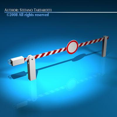 boundary automatic barrier 3d c4d