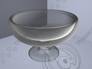 glass bowl 3d w3d