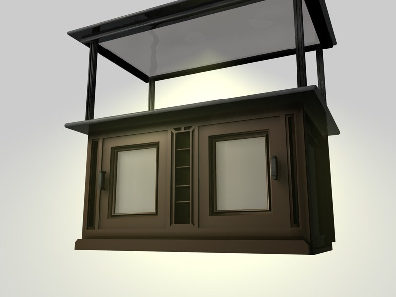 kitchen breakfast bar c4d