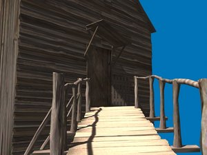 devastated house 3d model