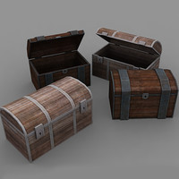3d chests rpg model