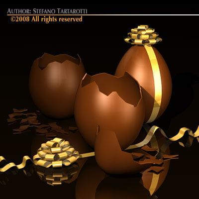 egg broken 3d model
