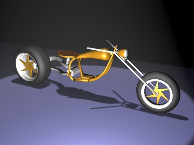 3d model concept motorcycle motor