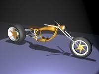 3d model concept motorcycle motor
