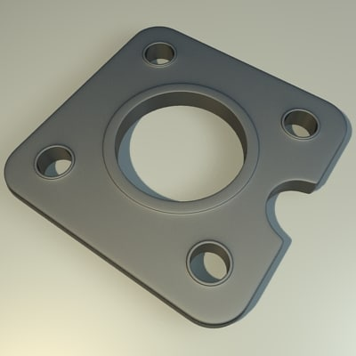 dxf metal component
