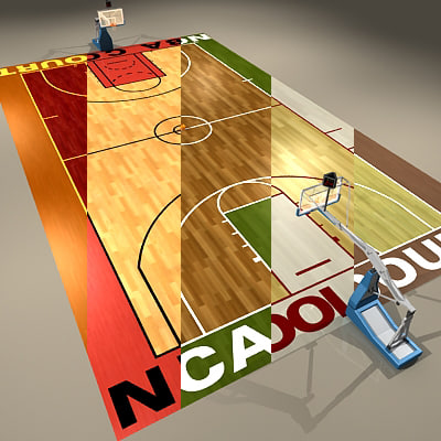 3d model of basketball courts ball arenas