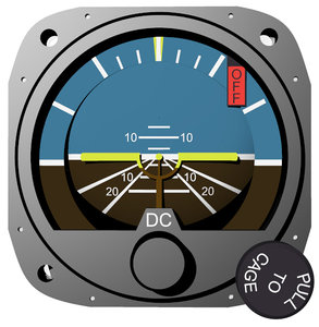 3ds air craft artificial horizon