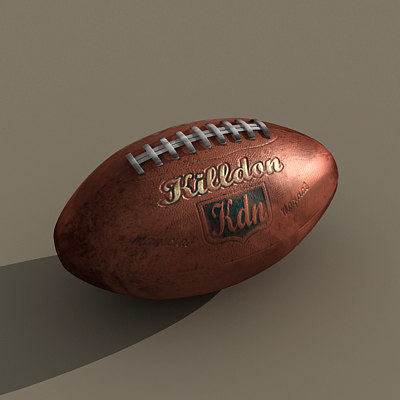 max american football dirty ball