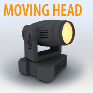 3d model light moving head -