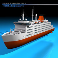 3d ferryboat boat model