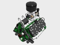 Early Flathead V8 Engine