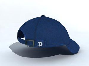 cap helmet hat 3d max