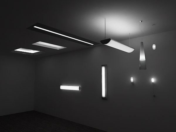 3d model designer lights