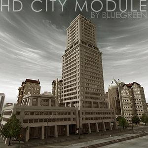 3dsmax definition city module