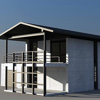 3d 3ds house modern