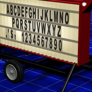 3ds max marquee sign 01