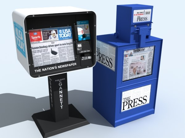 max newspaper stands