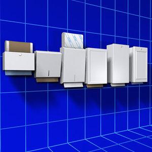 3d model paper towel holder 01