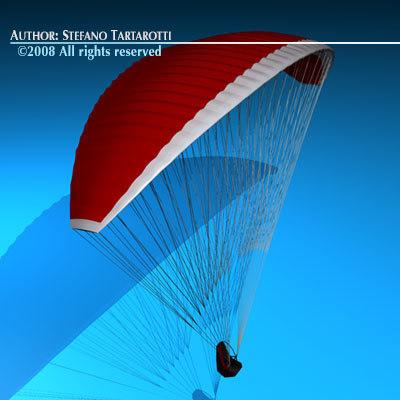 3ds max paraglider glider para