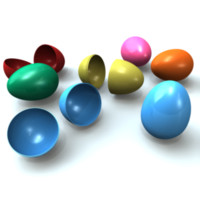 3d plastic easter eggs