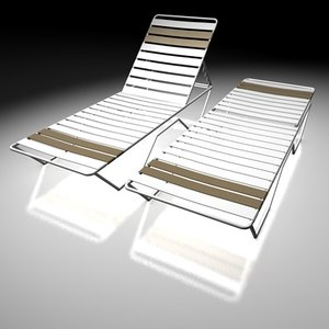 pool lounge chairs 3ds