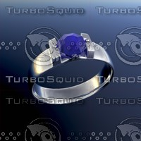 ring gemstone 3ds