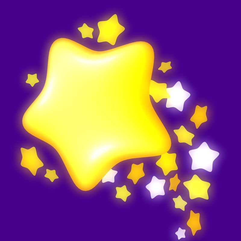3d 3ds rounded star