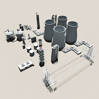 industrial 5 3d model