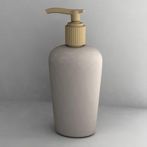 liquid soap 3d model