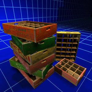 soda flat crate 01 3ds
