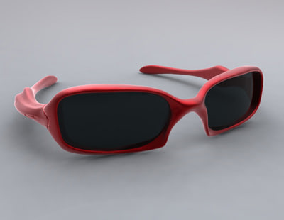 sunglasses frame lens 3d model