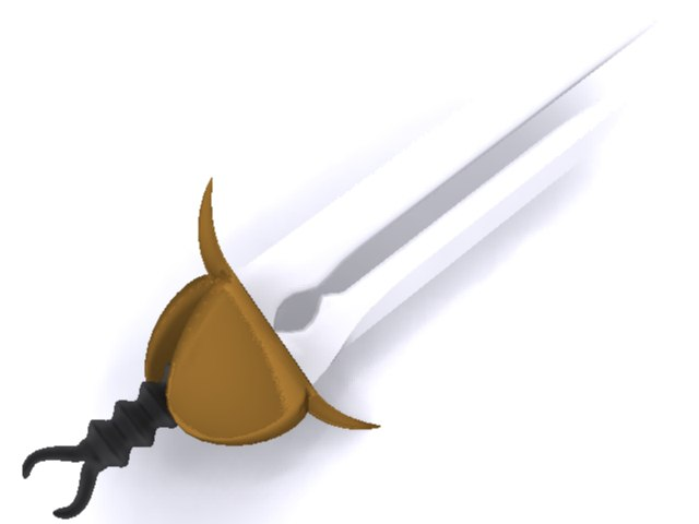 3d sword ornate model