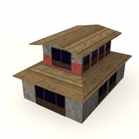 3d 3ds tibetian building