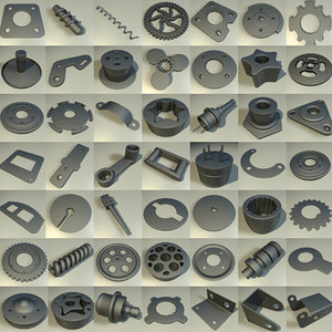 3dsmax component large 49 gear