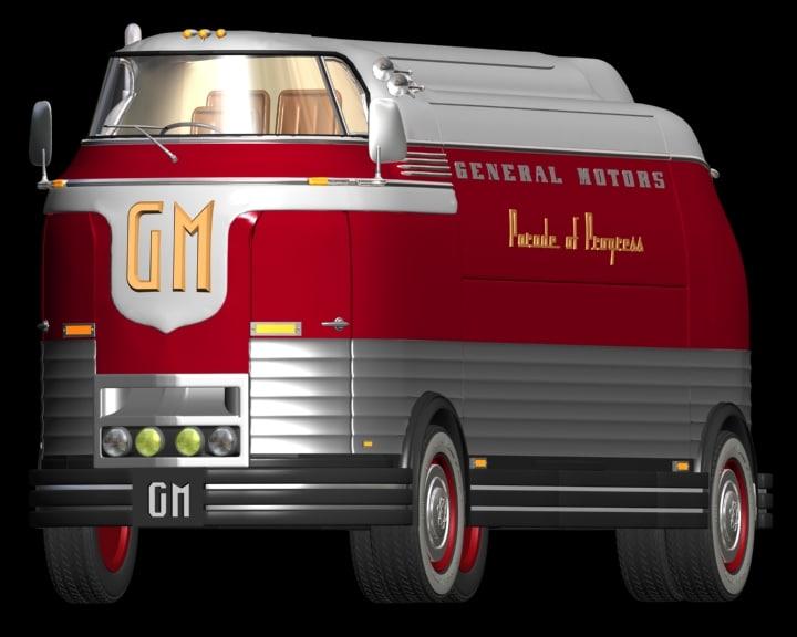 futurliner 1946 3d 3ds