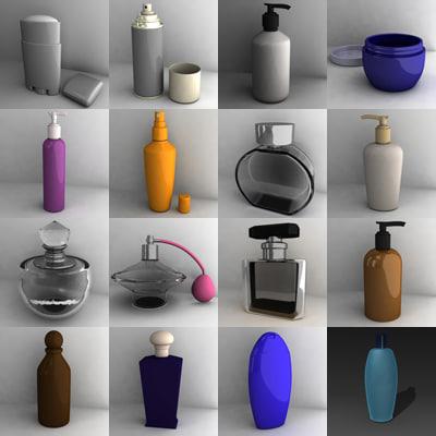 3d model bathroom items