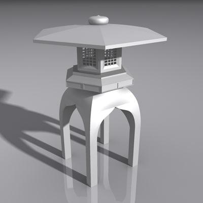 lantern light lamp 3d model