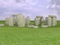 3d stonehenge prehistoric monument