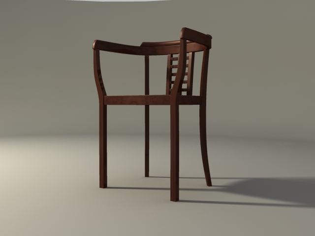 art deco chair 3d max
