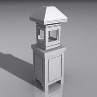 3d model lantern light lamp