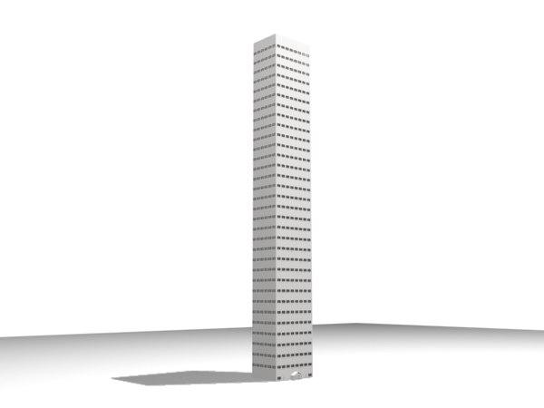 skyscraper 33 story 3d model